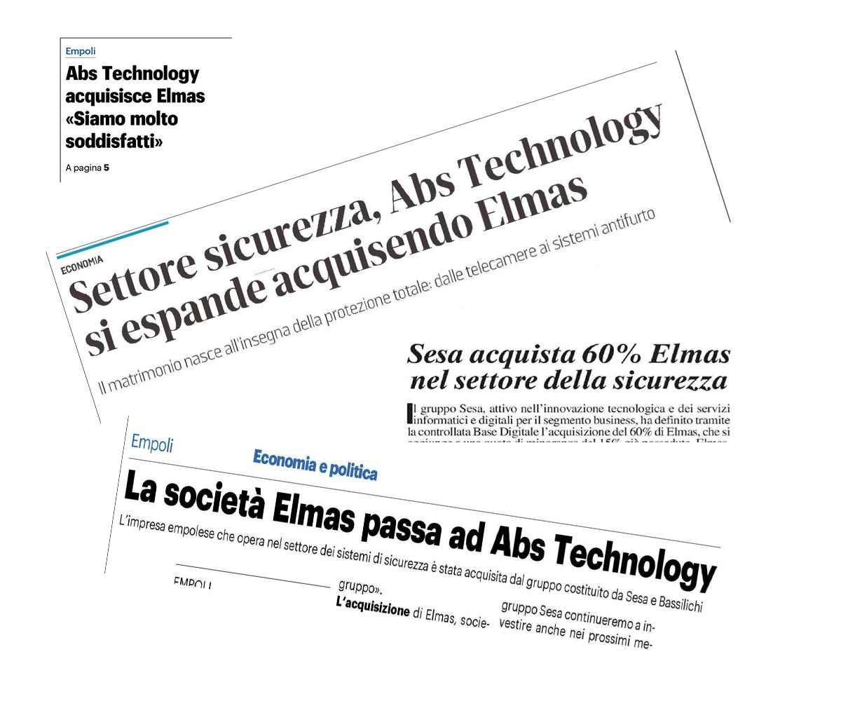 I titoli delle prime pagine sull'acquisizione di Elmas